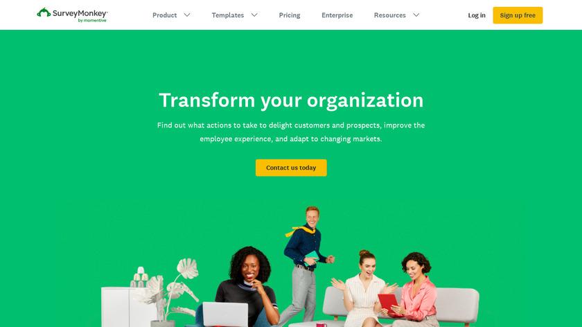 SurveyMonkey Intelligence Landing Page