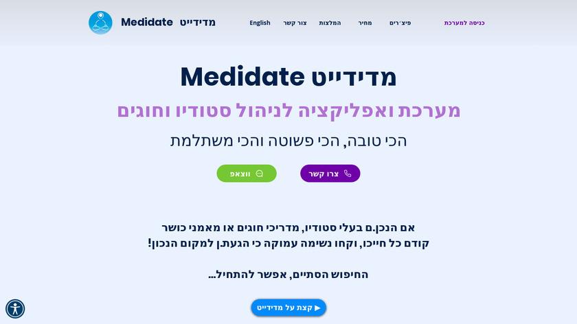 Medidate Landing Page