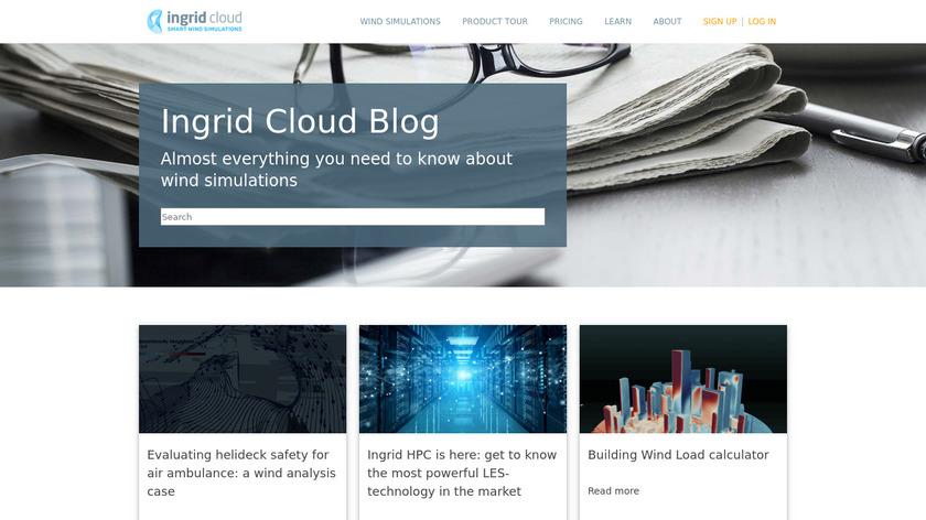 Ingrid Cloud Landing Page
