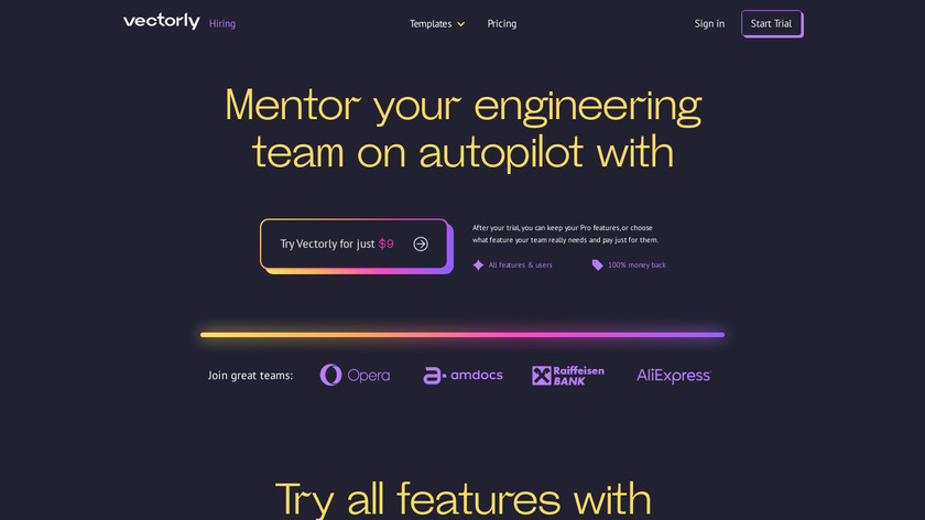 Vectorly Landing Page