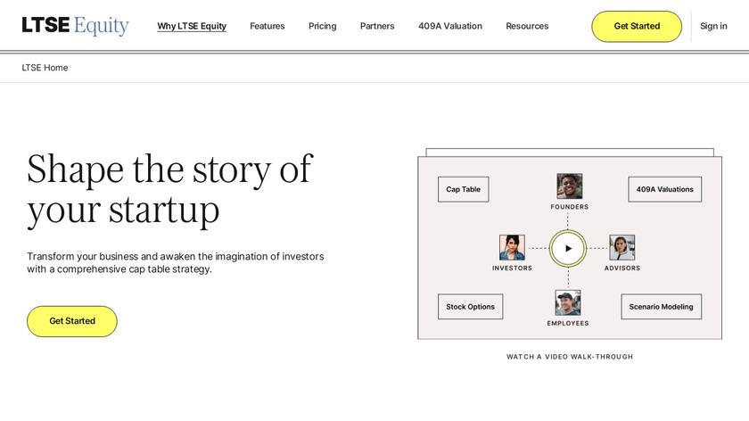Captable.io Landing Page