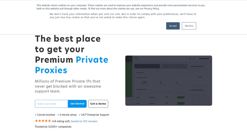 LimeProxies Landing Page