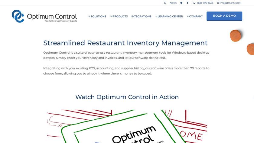 Optimum Control Landing Page