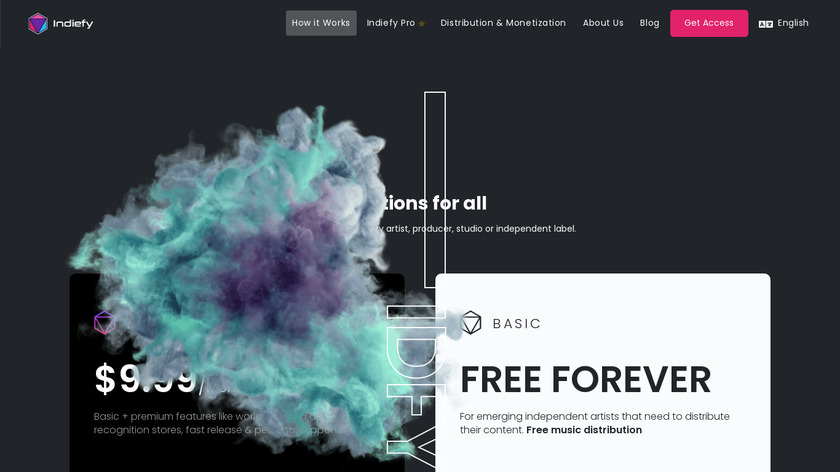 Indiefy Landing Page