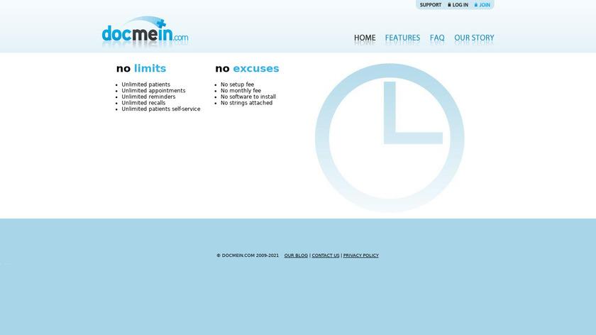 DocMeIn Landing Page