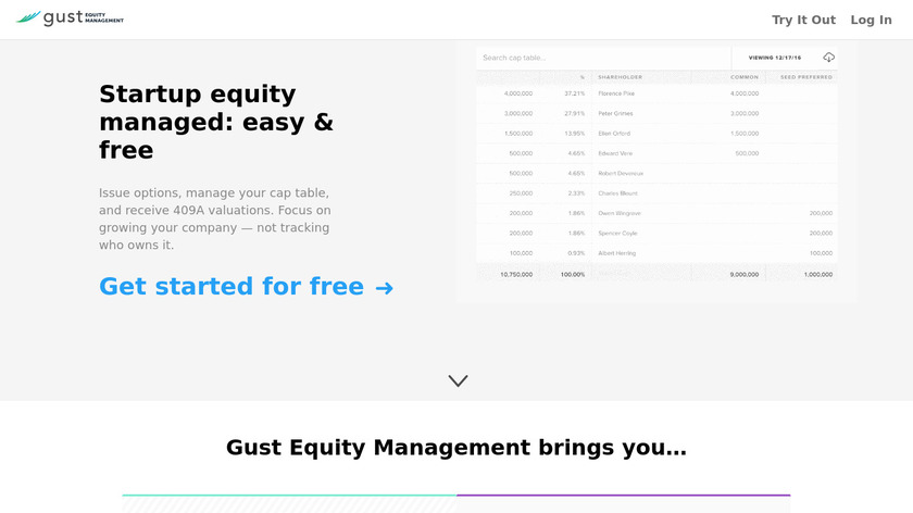 Gust Equity Management Landing Page