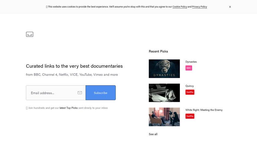 Rocumentaries Landing Page