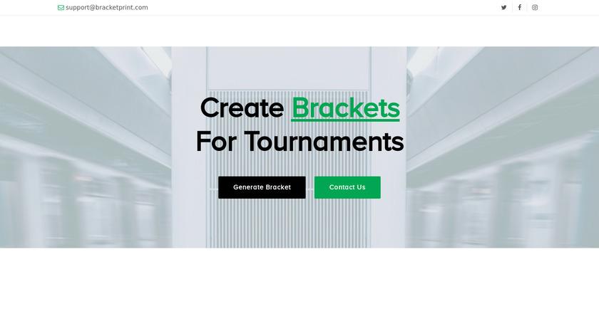 BracketPrint Landing Page
