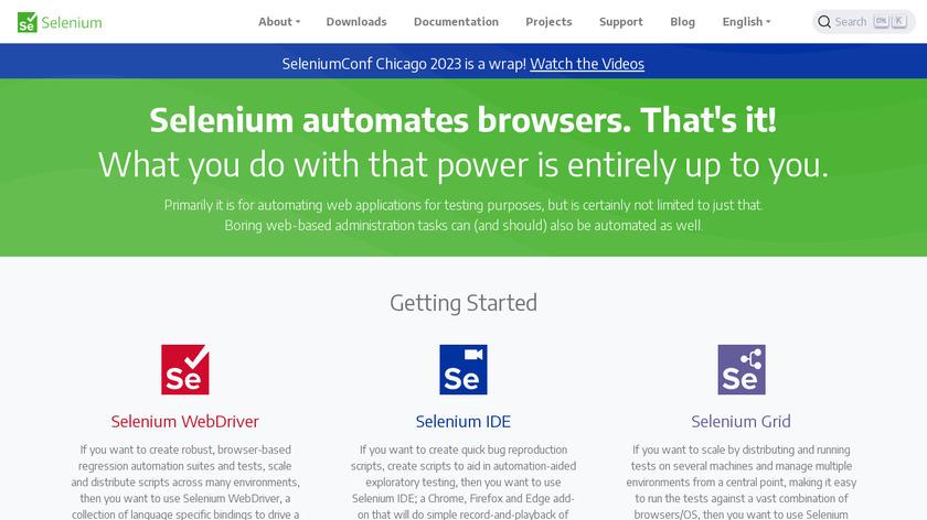 Selenium Landing Page