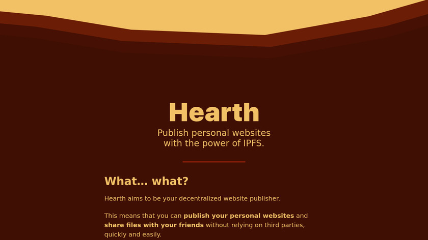 Hearth Landing Page