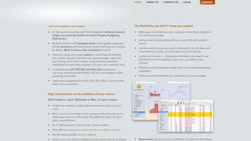 MoneyWorks Landing Page