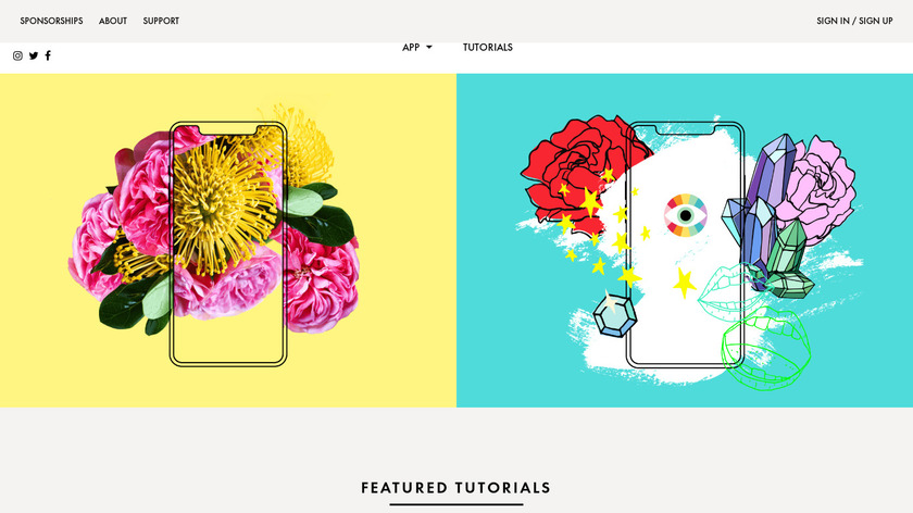 A Color Story Landing Page