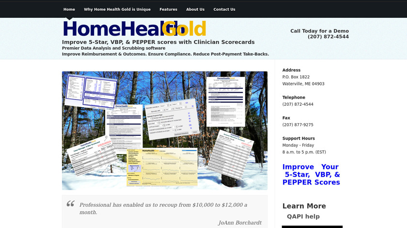 Home Health Gold Landing Page
