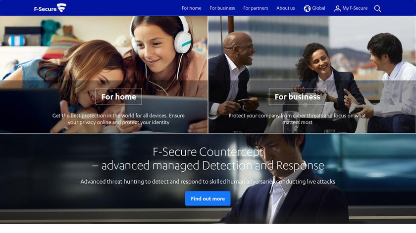 f-secure.com F-Secure Landing Page
