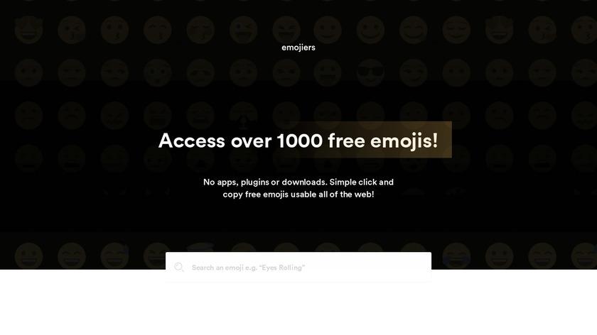 Emojiers Landing Page