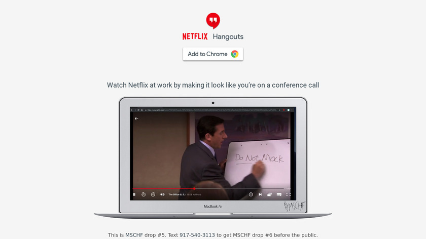 Netflix Hangouts Landing Page