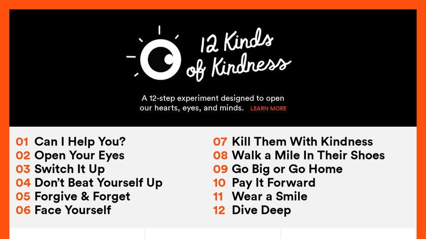 12 Kinds of Kindness Landing Page