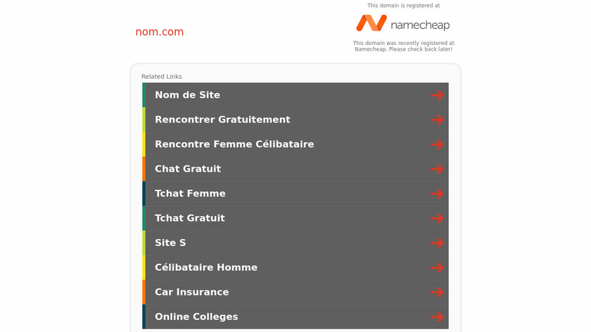 Nom Landing Page