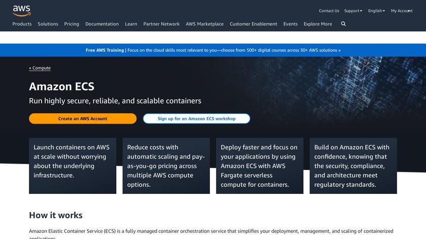 Amazon ECS Landing Page