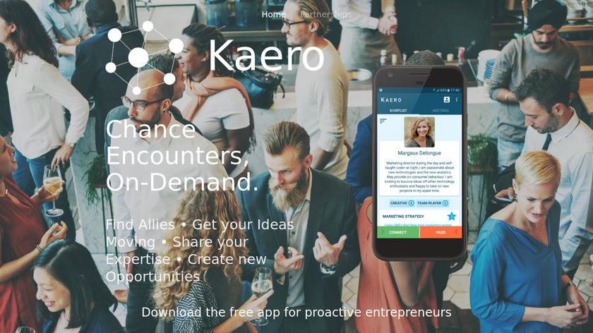 Kaero Landing Page