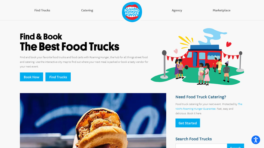 Roaming Hunger Landing Page