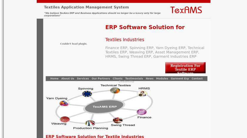 TexAMS ERP Landing Page