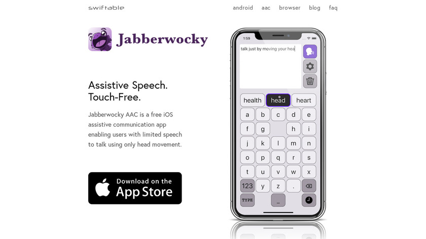 Jabberwocky AAC Landing Page