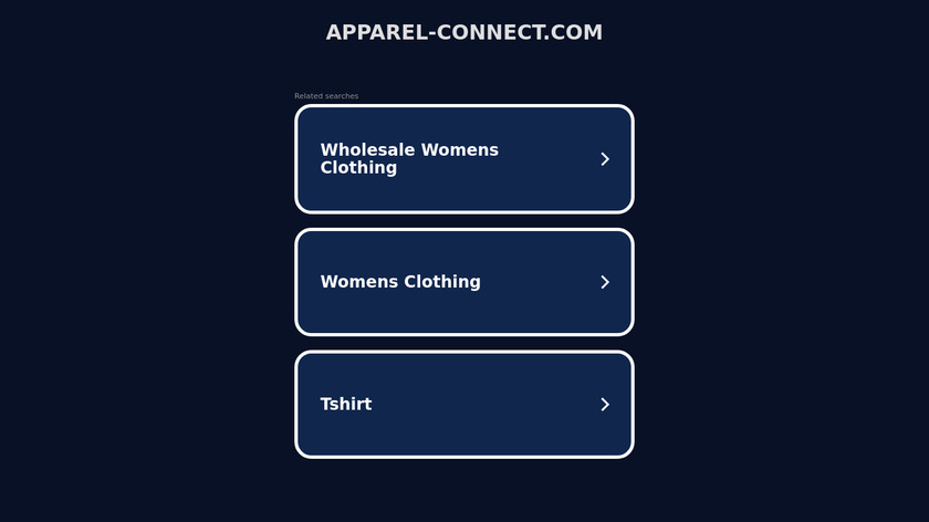 Apparel Connect Landing Page