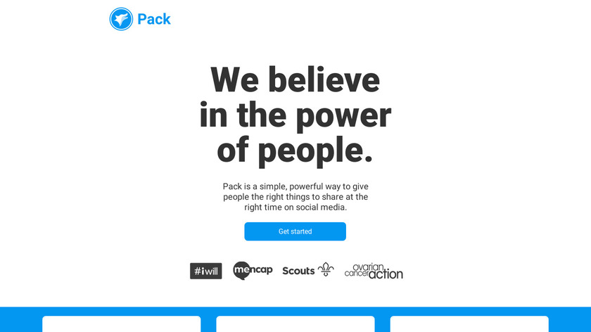 Pack.org Landing Page