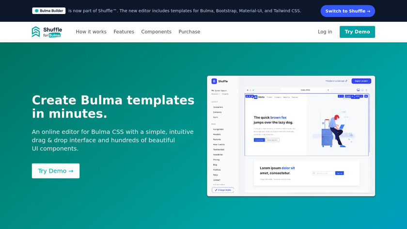 Bulma Builder Landing Page