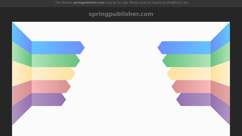 SpringPublisher Landing Page