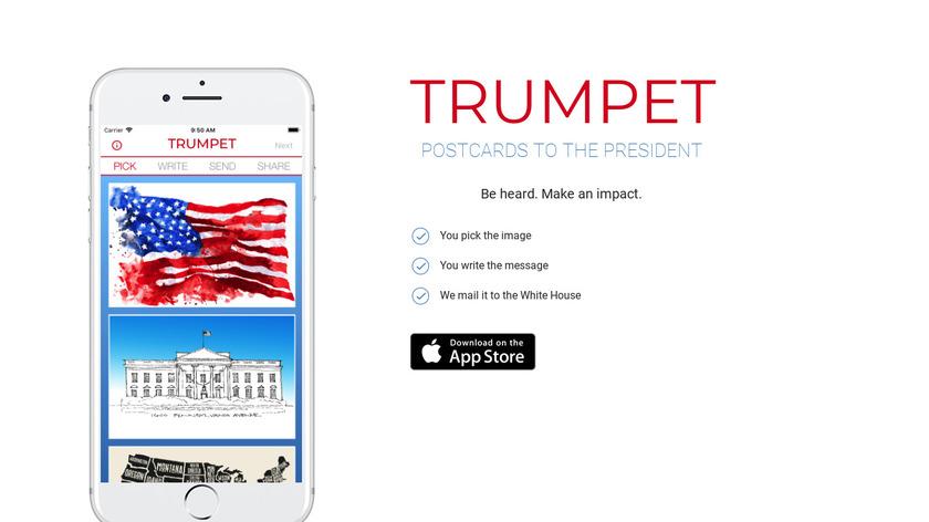 Trumpet Landing Page