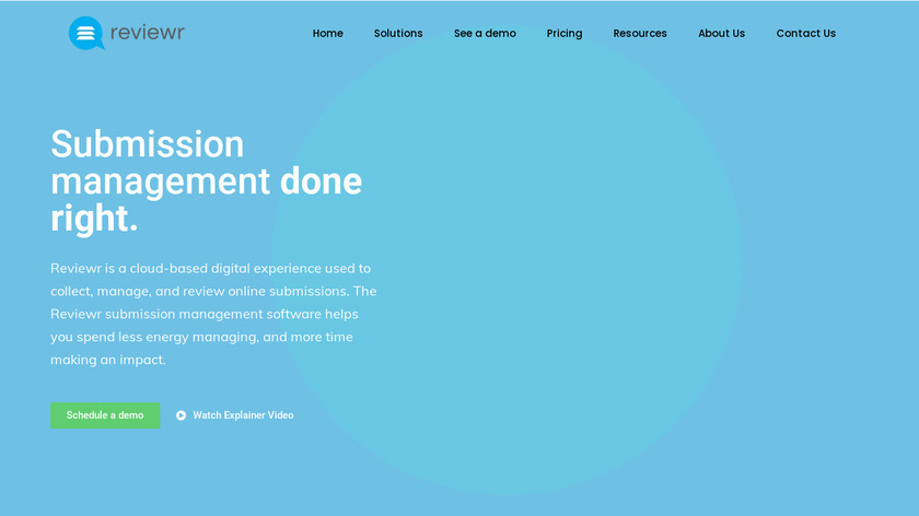 Reviewr Landing Page