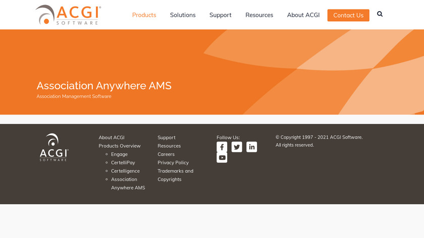 Association Anywhere Landing Page