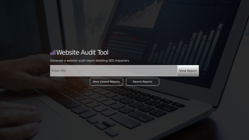 SiteAuditTool.com Landing Page