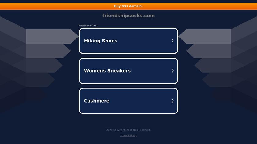 Friendship Socks Landing Page