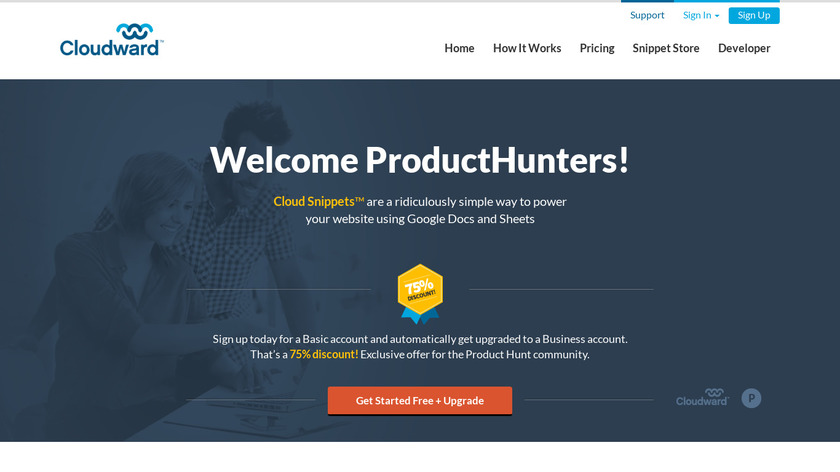 Cloud Snippets Landing Page