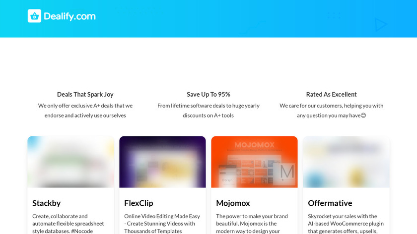 Dealify Landing Page
