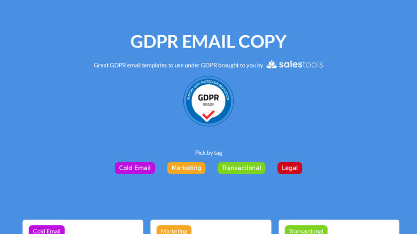 GDPR Email Copy Landing Page