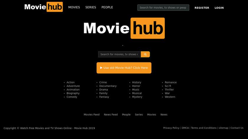 MovieHub Landing Page