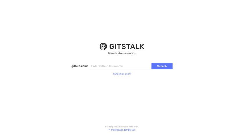Gitstalk Landing Page