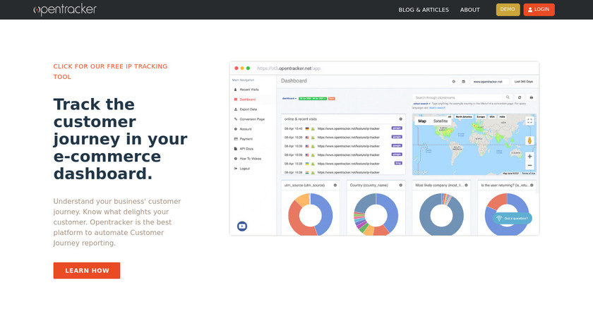 Opentracker Landing Page