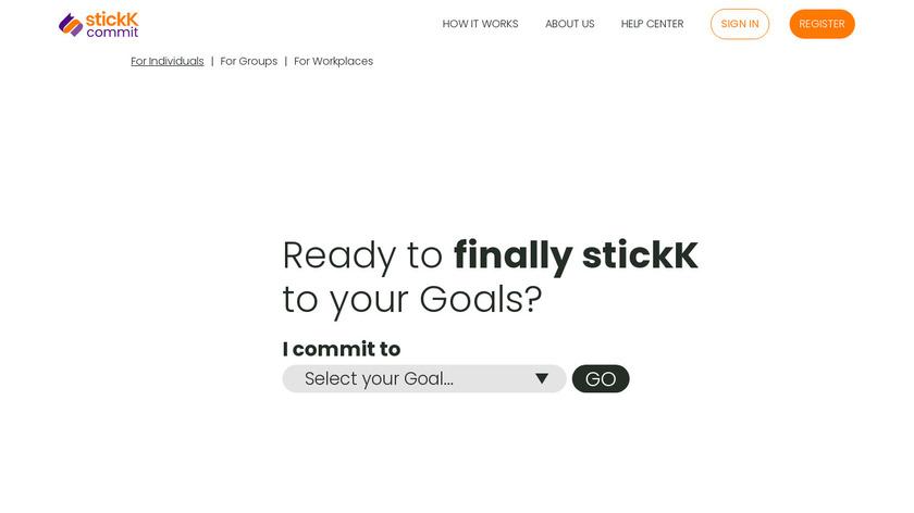 stickK Landing Page
