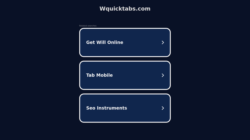 wquicktabs Landing Page