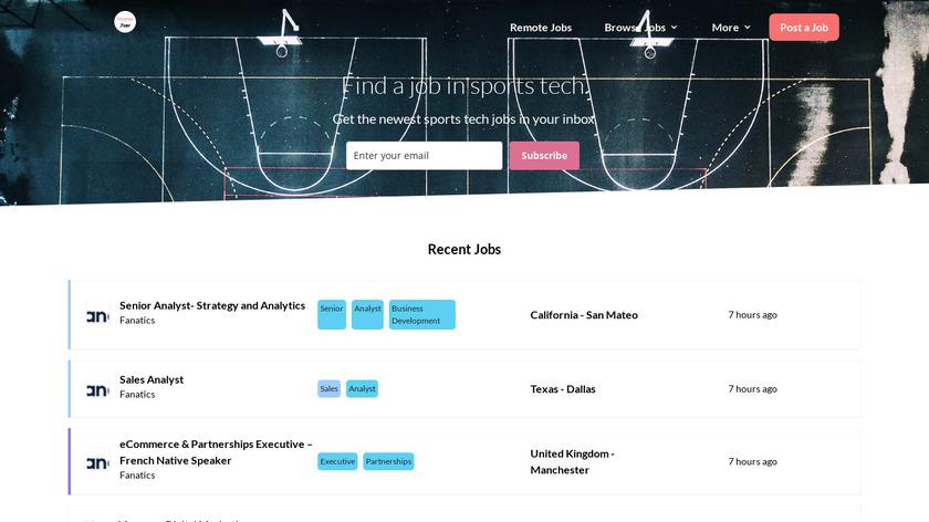 SportekJobs Landing Page