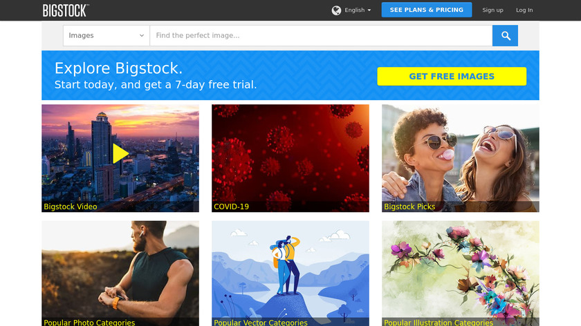 Bigstock Landing Page