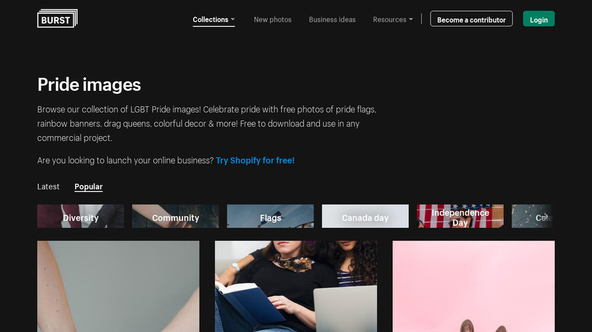 LGBTQ Pride by Burst Landing Page