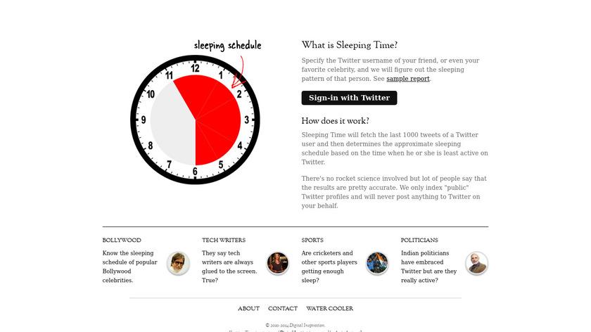 Sleeping Time Landing Page