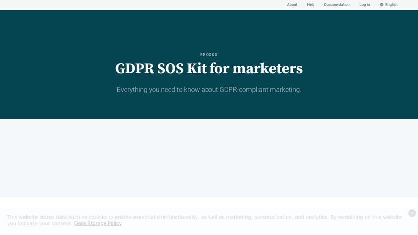 GDPR SOS Kit For Marketers Landing Page