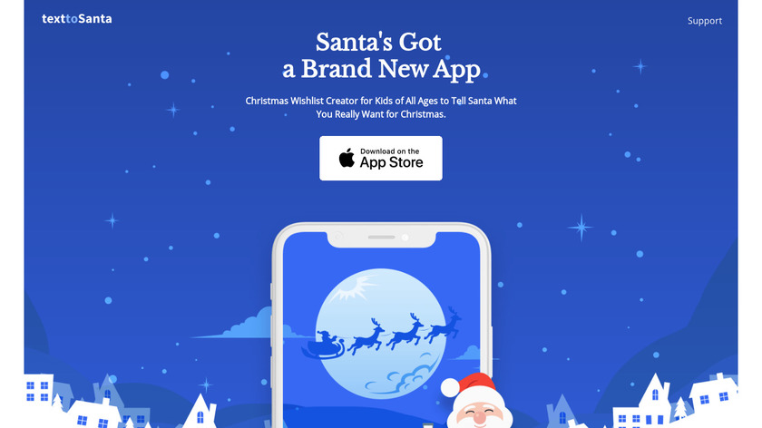 Text to Santa Landing Page